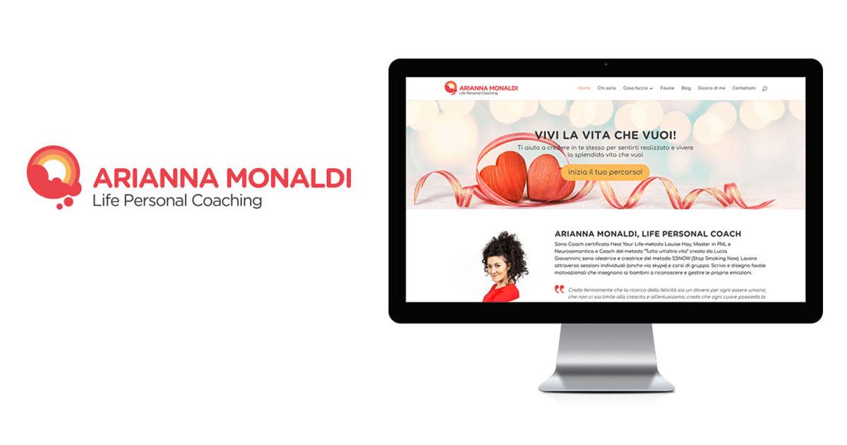 arianna monaldi branding logo sito