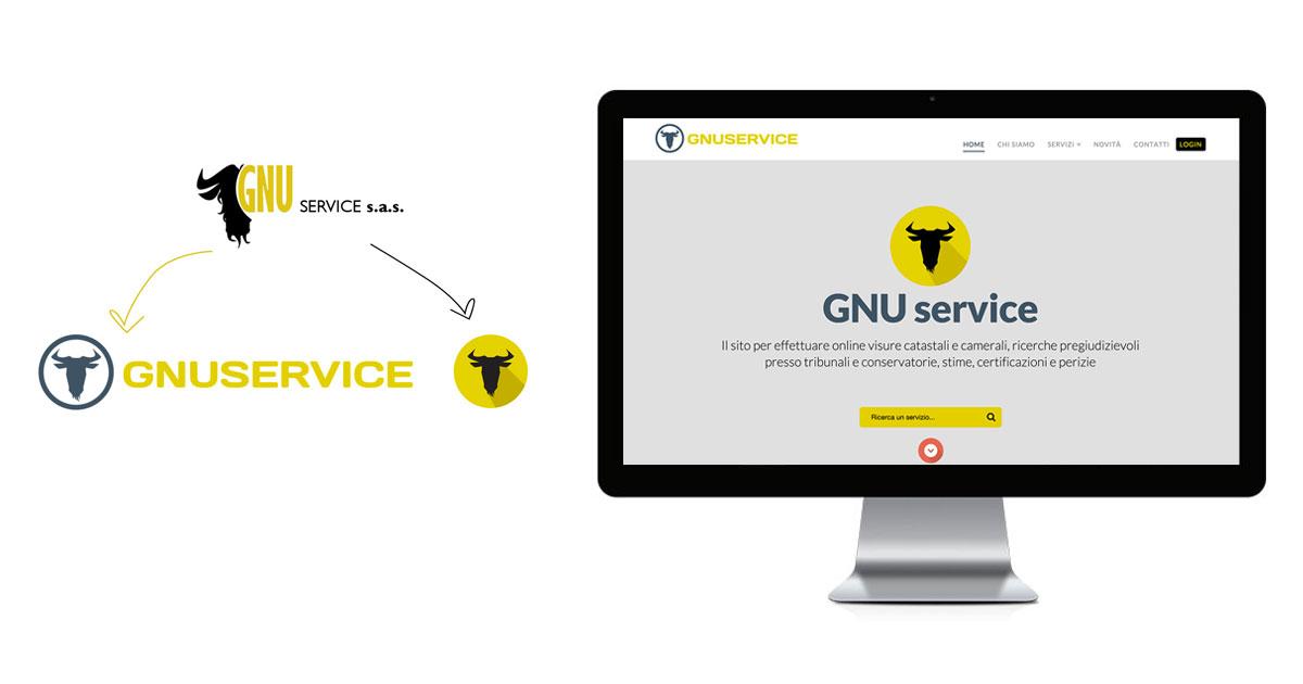 gnuservice rebranding logo sito