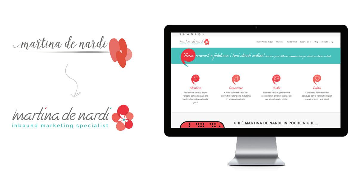 martina de nardi rebranding logo sito