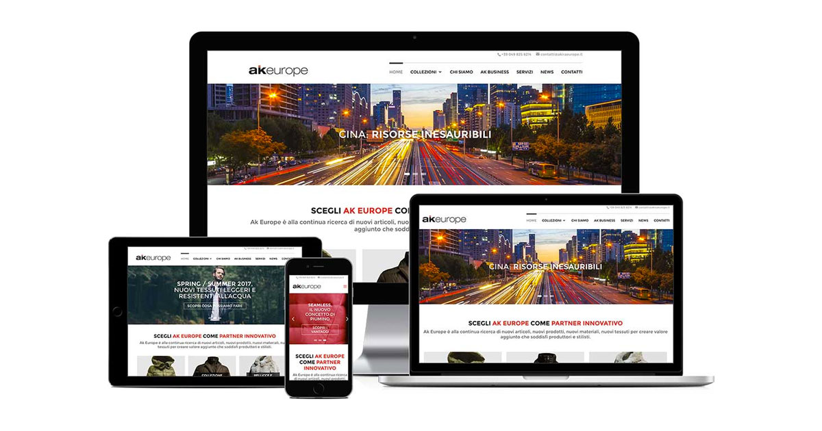 ak europe grafica e realizzazione sito web