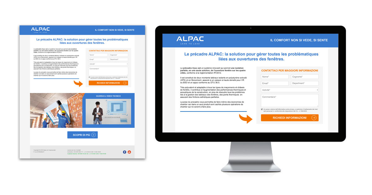 alpac landing page