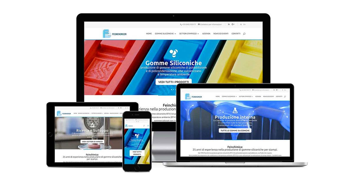 feinchimica grafica e realizzazione sito web