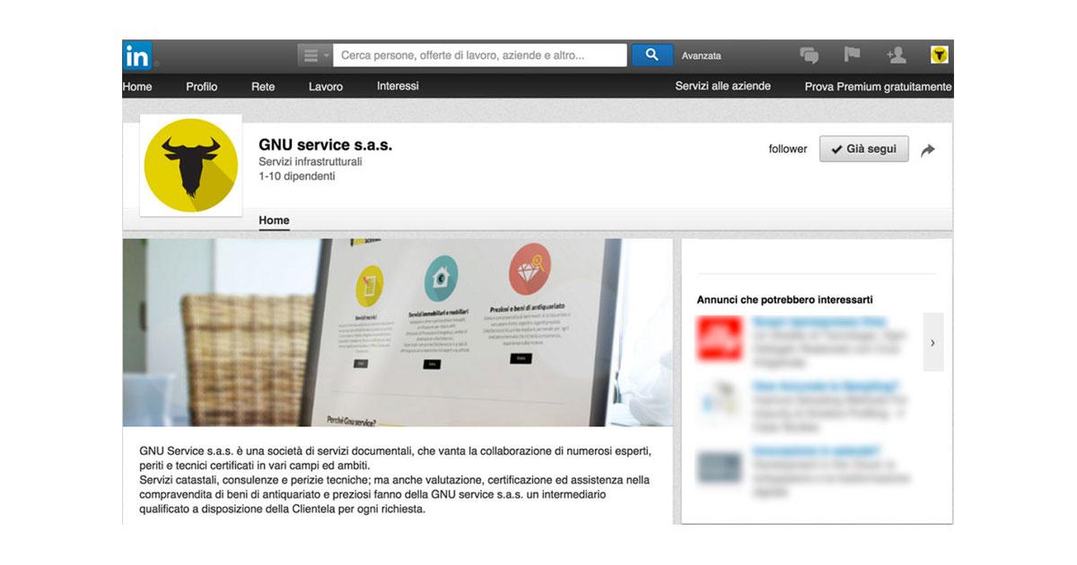 gnu service copertina linkedin social
