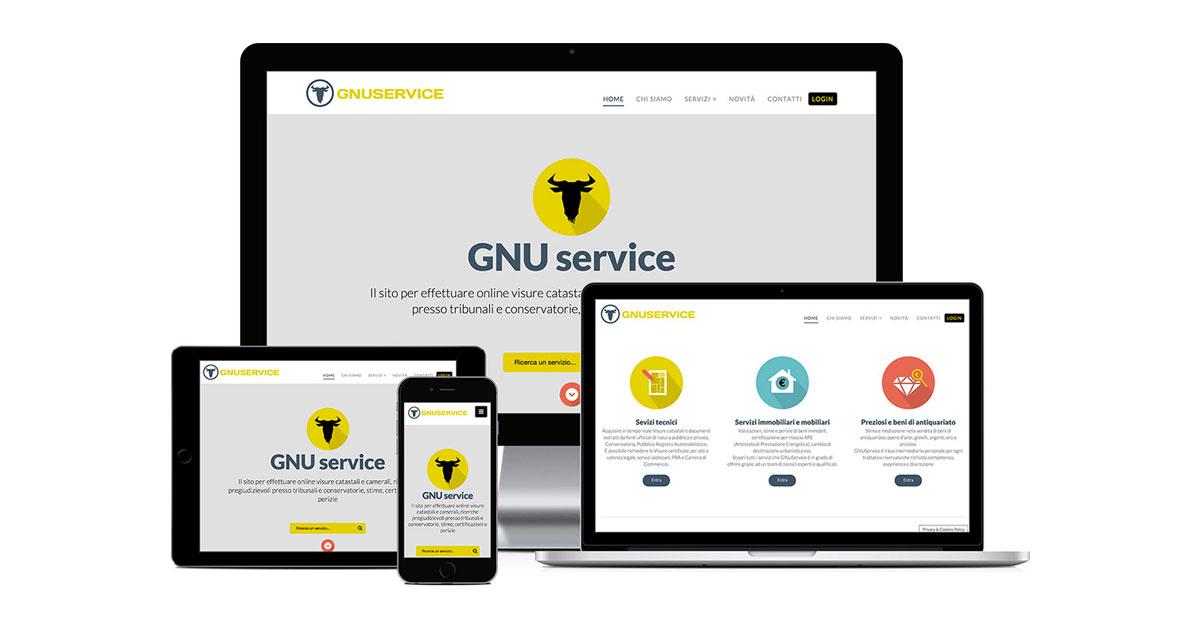 gnu service grafica e realizzazione sito web