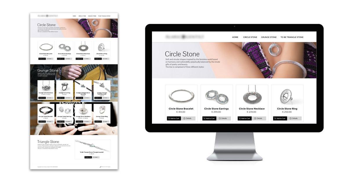 landing page vendita online gioielli