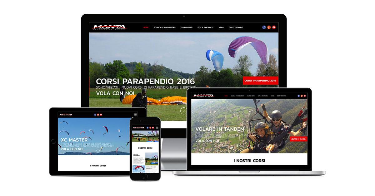 manta scuola di volo grafica e realizzazione sito web