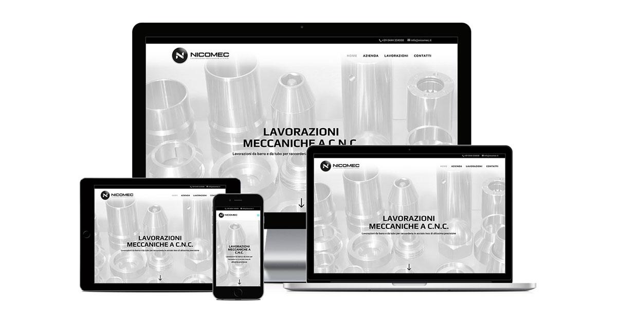 nicomec grafica e realizzazione sito web