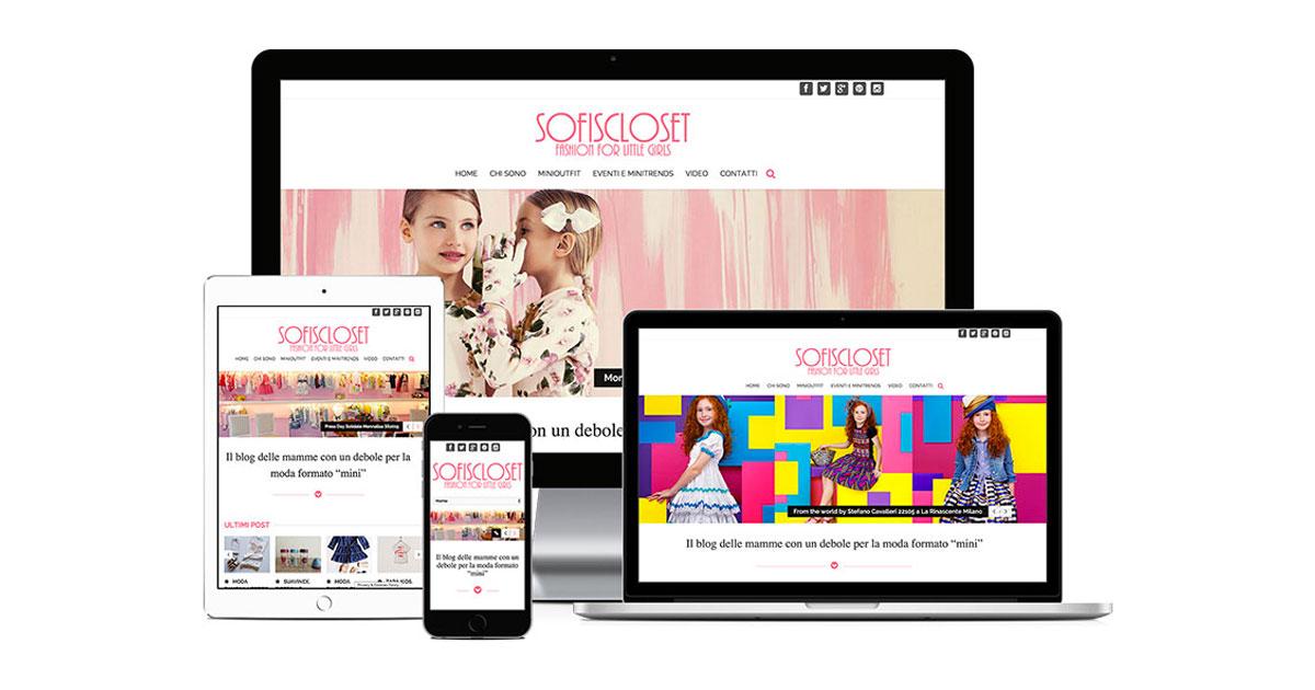 sofiscloset grafica e realizzazione sito web