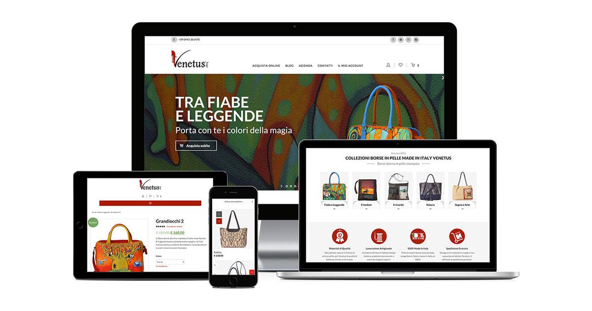 venetus grafica e realizzazione sito ecommerce