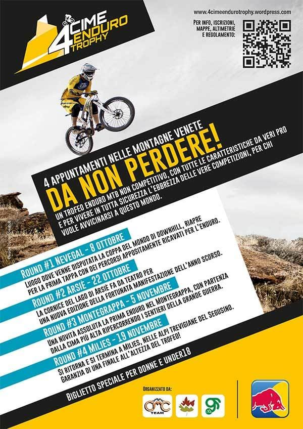 Flyer A5 - 4 cime enduro trophy fronte