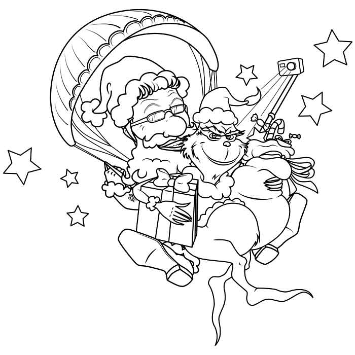 Disegno caricatura per natale Montegrappa Tandem Team