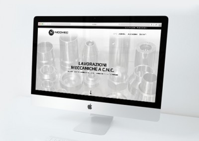 Studio grafico sito web Nicomec