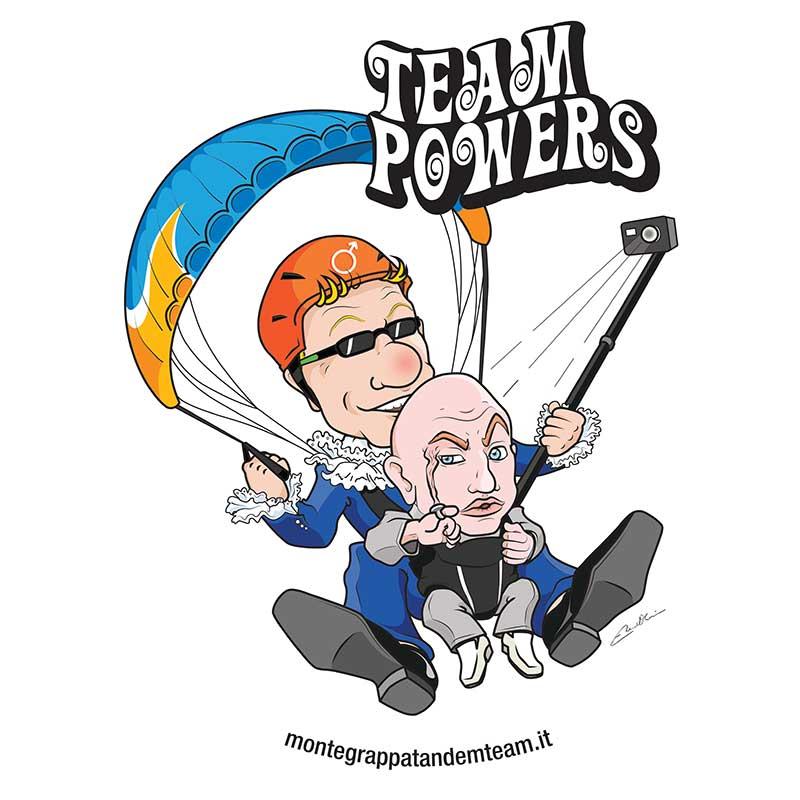 Caricatura stile Austin Powers completa