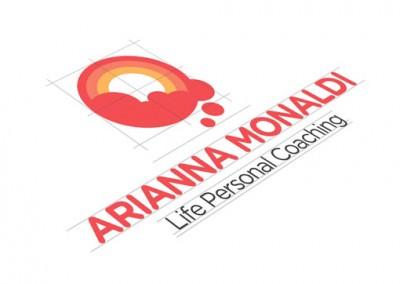 Logo e grafica sito web per Arianna Monaldi