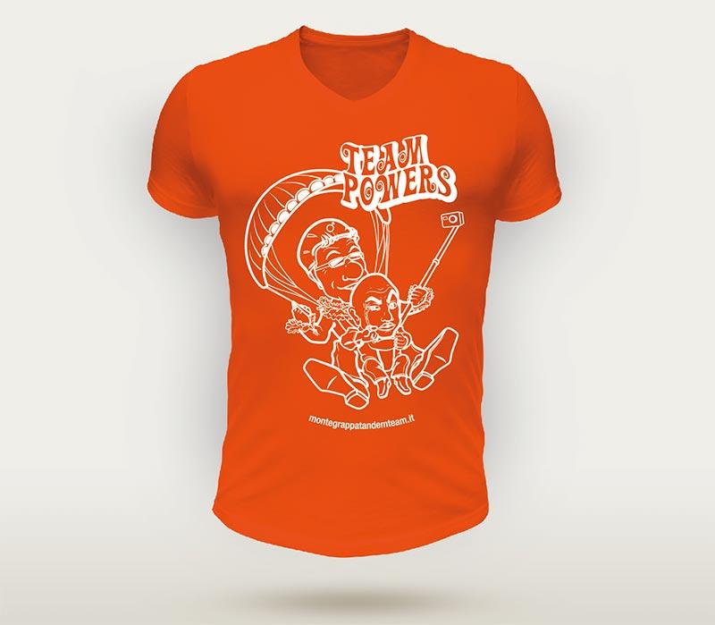 Caricatura per maglietta t-shirt Montegrappa Tandem Team