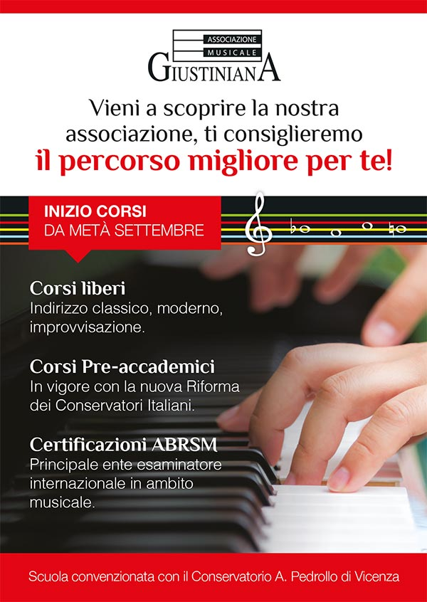 Flyer A5 - Musicale Giustiniana - fronte