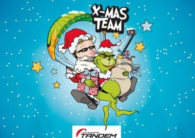 Disegno natalizio per Montegrappa Tandem Team